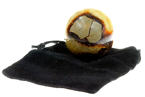 Septarian-Sphere-Healing-Crystal-40mm-with-Black-Drawstring-Velour-Pouch-Reiki