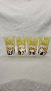 Mid Century Modern Highball Drinking Glasses Set Of 4 Unique Barware!!!