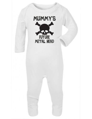 Futuro Mummys Metal Cabeza Divertido Bebé Crecen Chaleco Traje Enterito Enterizo