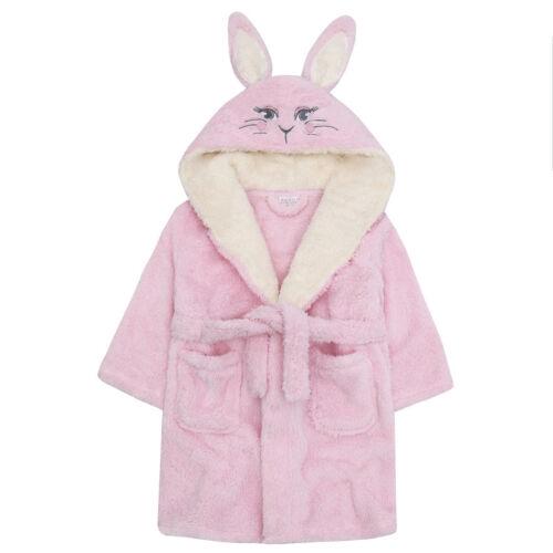 Girls Soft /& Cosy 3D Animal Bunny Unicorn Novelty Dressing Gown Robe