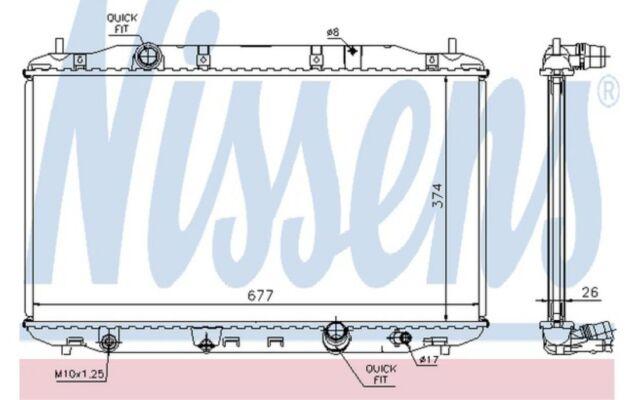 NISSENS Radiador, refrigeración del motor HONDA CIVIC 68135A