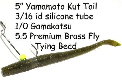 75 Pc Co-Angler Special Refill Kit 3 Size Wacky Worm Neko Rig Silicone Tubes