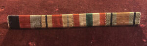 WW2 British Medal Ribbons 1939-1945, Africa, Italy Stars & Defence Army Bar