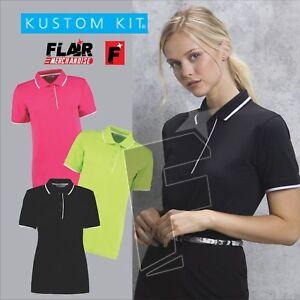 Kustom-Kit-Ladies-039-Essential-Polo-Short-Sleeve-Polycotton-Shirt-Top