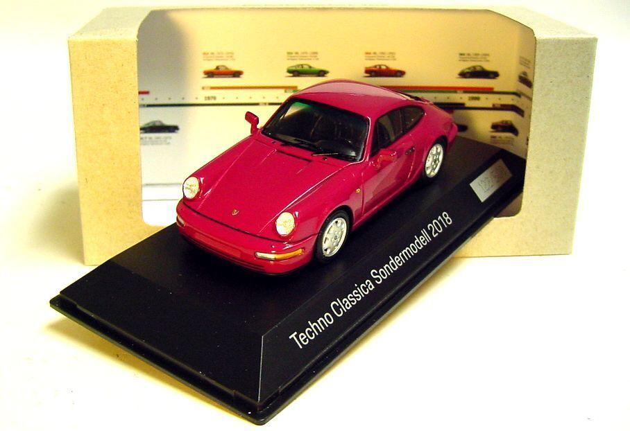1 43 funke 1994 porsche 911 carrera - techno - classica (964) bis 2018 dealer - werbespot