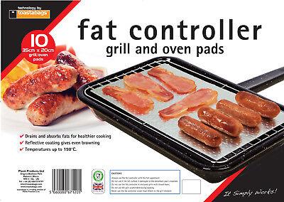 10 x contrôleurs de graisse et four graisse trappeur cuisson pads grill absorbe les graisses