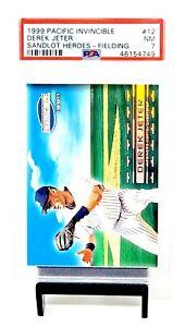 1999-Pacific-Invincible-Sanlot-HOF-Yankees-DEREK-JETER-Baseball-Card-PSA-7-NMINT