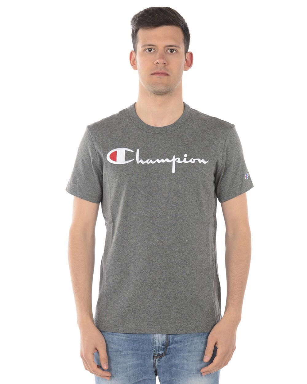 Champion T Shirt Sweatshirt Cotton Man grau 210972 EM519 Sz. L PUT OFFER