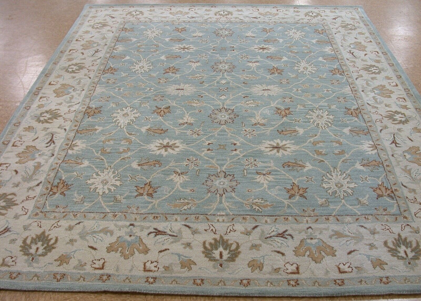 Pottery Barn Malika Rug Blue 3x5 Wool