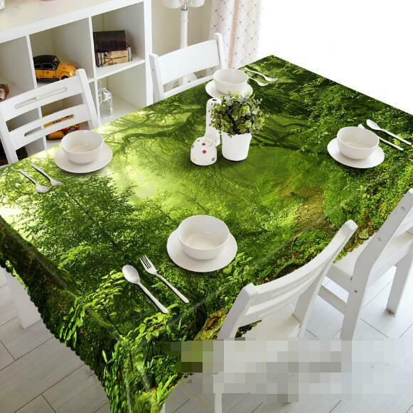3D Forest 433 Tablecloth Table Cover Cloth Birthday Party Event AJ WALLPAPER AU