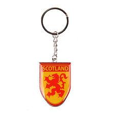 Scottish Lion Rampant Flag Scotland Shield Metal Bag Purse Keyring Charm