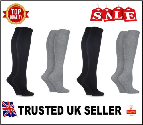 4 PAIRS Women Girl Ladies Over The Knee Thigh High Long Socks UK size 4-7