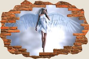 3D-Hole-in-Wall-Fantasy-Angel-View-Wall-Stickers-Film-Decal-Wallpaper-Mural-703