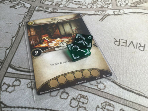 5 x Clue  tokens double sided for Arkham Horror LCG