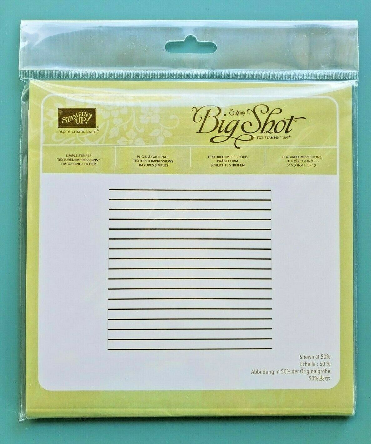 Retired Stampin/' Up Textured Impressions Embossing Folder TIEF Sizzix Big Shot