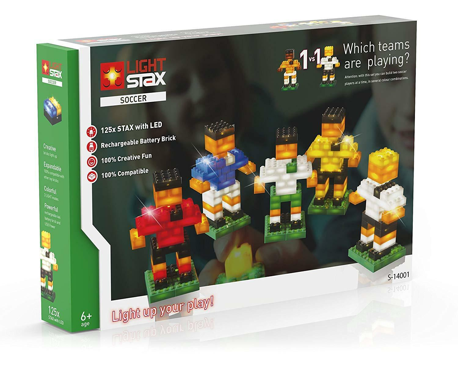 Light Stax Soccer Team vier Leucht-Funktionen Lego kompatibel S-14001