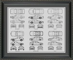 Blueprint art bmw auto collection car artwork gift print poster image is loading blueprint art bmw auto collection car artwork gift malvernweather Image collections