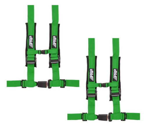 "PRP 4 Point 2/"" Harness Seat Belt Pair Automotive Style Latch Green YXZ 1000R"