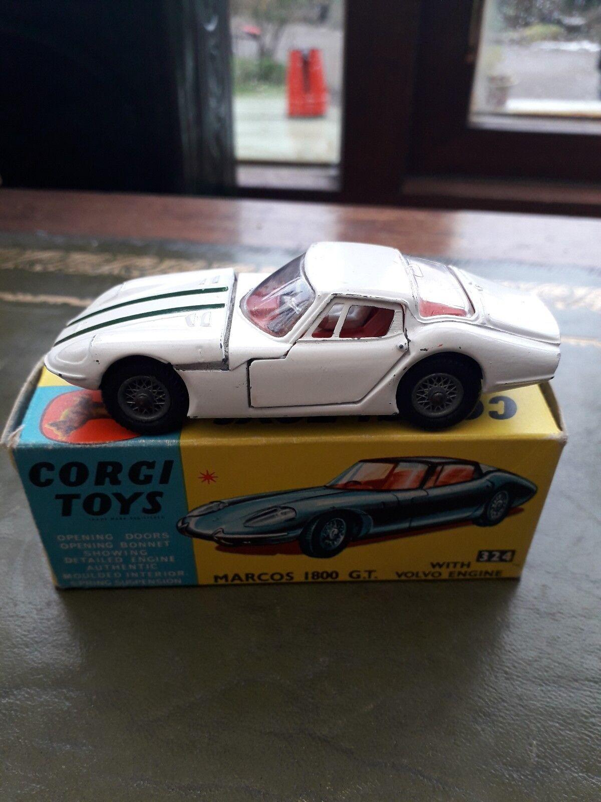 Corgi Toys No. 324, Marcos 1800GT, with Volvo Engine near mint in near mint box.