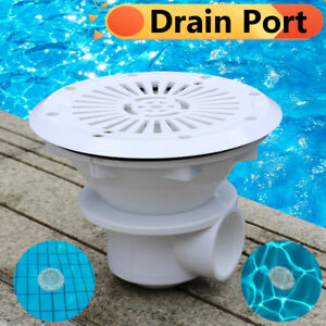 Swimming Pool Main Drain Port Bottom 8 Inch Spa Water
