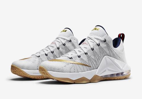 Nike LeBron James XII (12) USA Oro / Edition.. Tamaño Hombre 8 / Oro o mujeres es 9,5... Raro! 79cd22