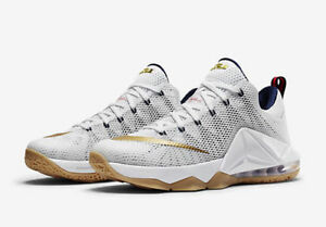 NIKE LEBRON JAMES XII (12) USA GOLD EDITION..SIZE MEN S 8  or ... c7ddd716d4