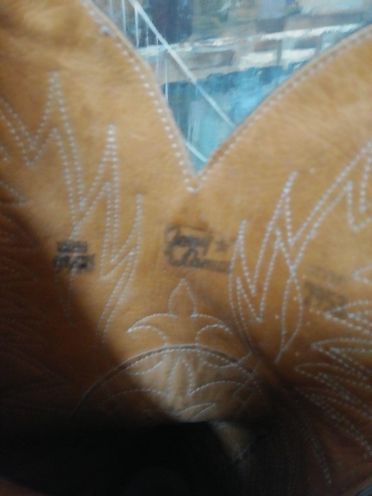 MEN'S TONY LAMA VAQUERO BULLHIDE GRAY 2953 LEATHER Stiefel SIZE 9.5D 2953 GRAY 6bf187