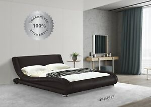 Details About Platform Bed King Upholstered Leather Metal Frame Low Profile Modern Bedroom Top