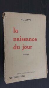 Colette-La-Nacimiento-de-La-Jour-Novela-1928-E-Flammarion-Paris-ABE