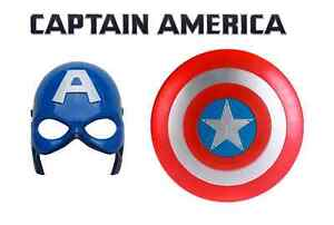 Avengers Captain America Kapitän Amerika Maske leuchten + Schutzschild NEU OVP