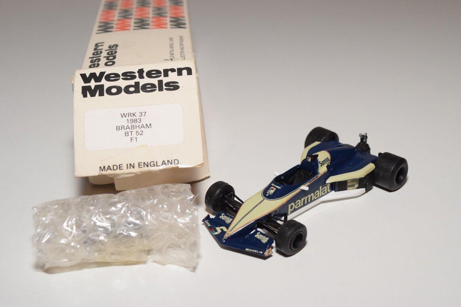 barato y de moda I WESTERN MODELS WM WRK37 1983 1983 1983 BRABHAM BT 52 F1 RACING Coche DARK azul MINT BOXED  muy popular