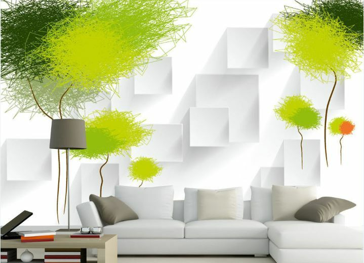 3D Green Trees 51 Wall Paper Wall Print Decal Wall Deco Indoor AJ Wall Paper