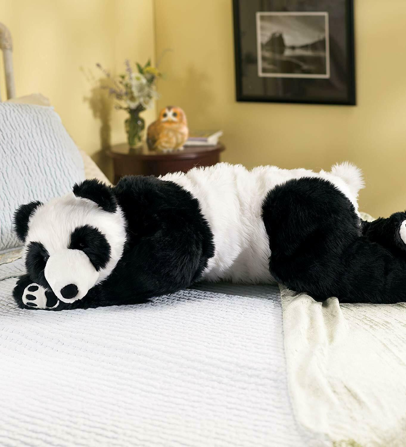 Realistic Large Panda Bear Stuffed Toy Body Pillow Weighted Animal Plush Teddy