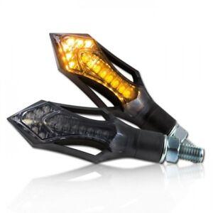 "233711 Motorrad LED Blinker ""Rush"", schwarz, ABS, M8, Paar, Maße: L: 75mm x B: 2"