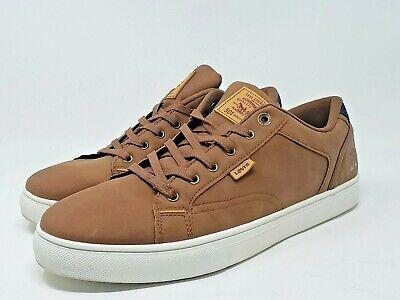 Mens Levi's 501 Brown Leather Jeffrey