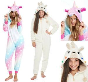 Girls Childrens Unicorn All in One Pajama Nightwear