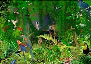 background designer jungle animal theme effect a4 cake topper icing