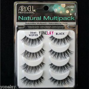 a4a24311d89 4 Pairs ARDELL Demi Wispies Natural Multipack False Eyelashes Fake ...