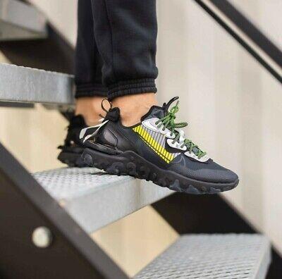 Nike React Vision Premium 3M Mens Black Volt Grey Sneaker Shoe All Sizes | eBay