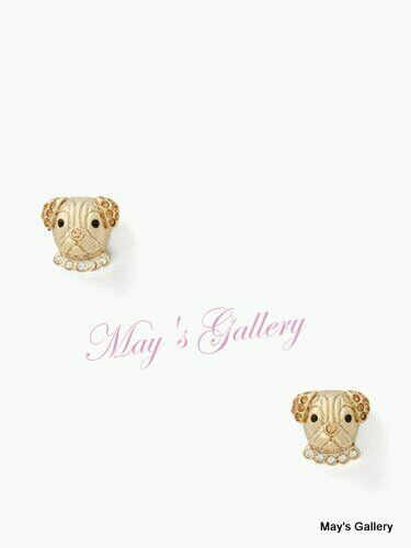 Kate Spade Handbag Earrings Earring post KSNY Gold Tone Puppy Dog Dust bag