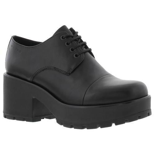 Vagabond 4047-601 Dioon para mujer Negro Cuero Con Cordones Plataforma Zapatos