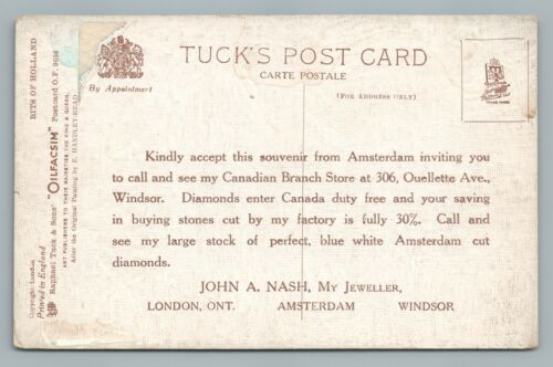"""Amsterdam Cut Diamonds—Enter Canada Duty Free"" ONTARIO Windsor—London 1910s"