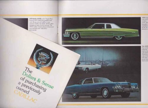 1975 CADILLAC USED or PREVIOUSLY OWNED US 8 Page Brochure FLEETWOOD ELDORADO
