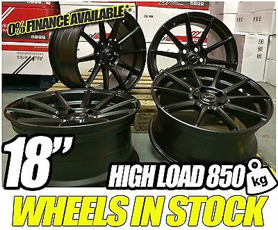 """18"""" BLACK EXILE STYLE ALLOY WHEELS CONCAVE STAGGERED BMW 3 SERIES F30 F31 E90 92"""