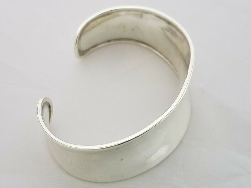 BA448 Sterling Silver Thick Bangle