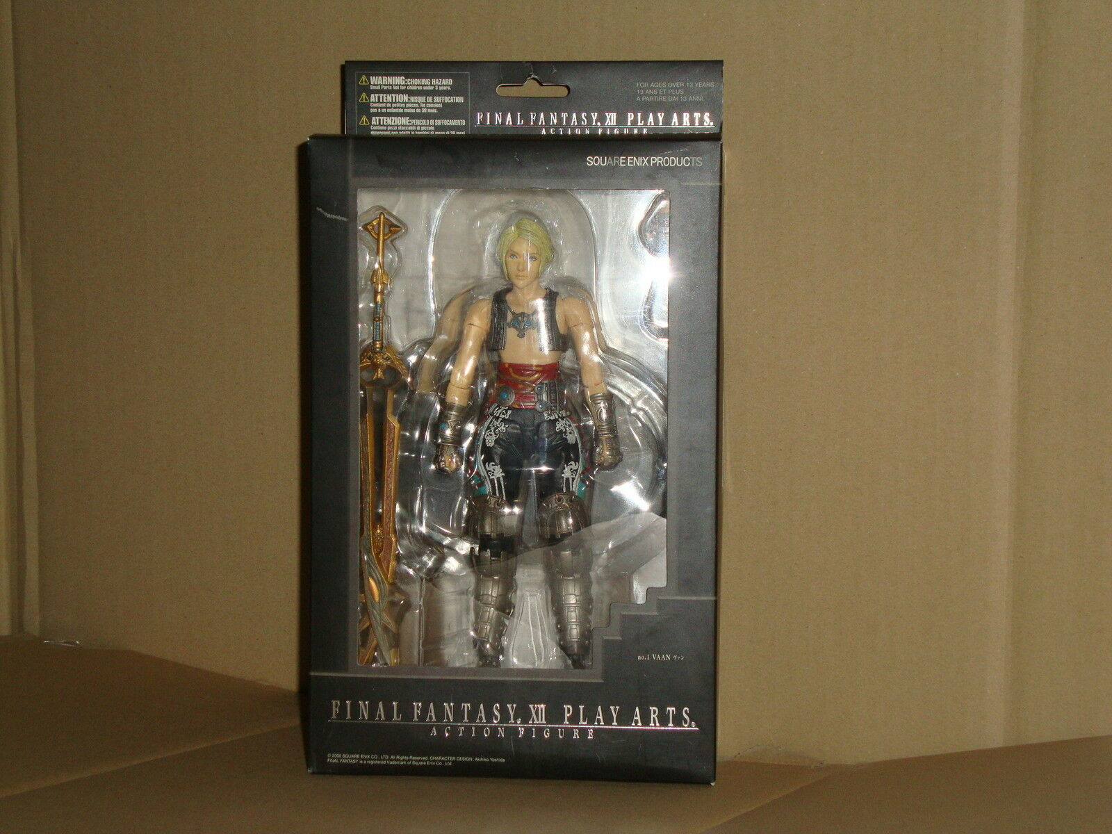 VAAN FINAL FANTASY 12 XII PLAY ARTS ACTION FIGURE BY SQUARE-ENIX NEW IN BOX