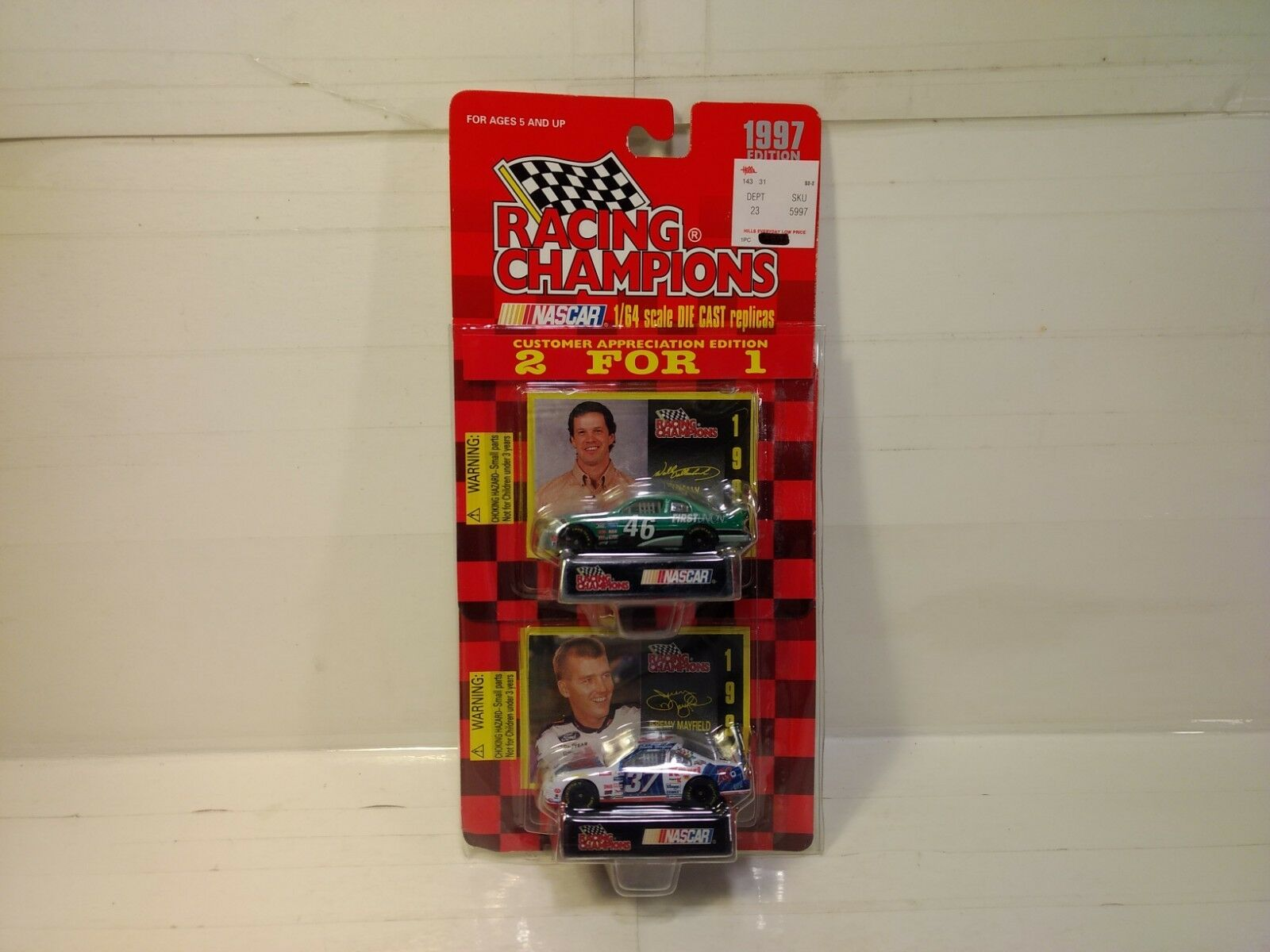 Racing Champions 1997 Dallenbach Jeremy Mayfield 2 Auto Set 1 64 Skala-Modelle