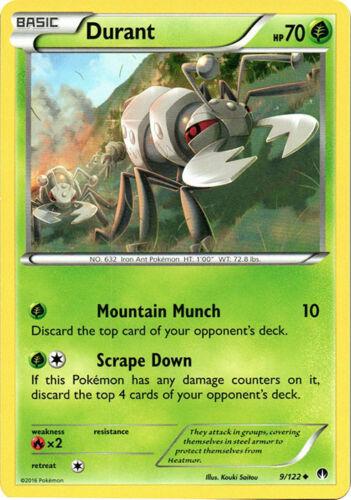 Uncommon XY BREAKpoint Pokemon Near Mint 4x Durant 9//122