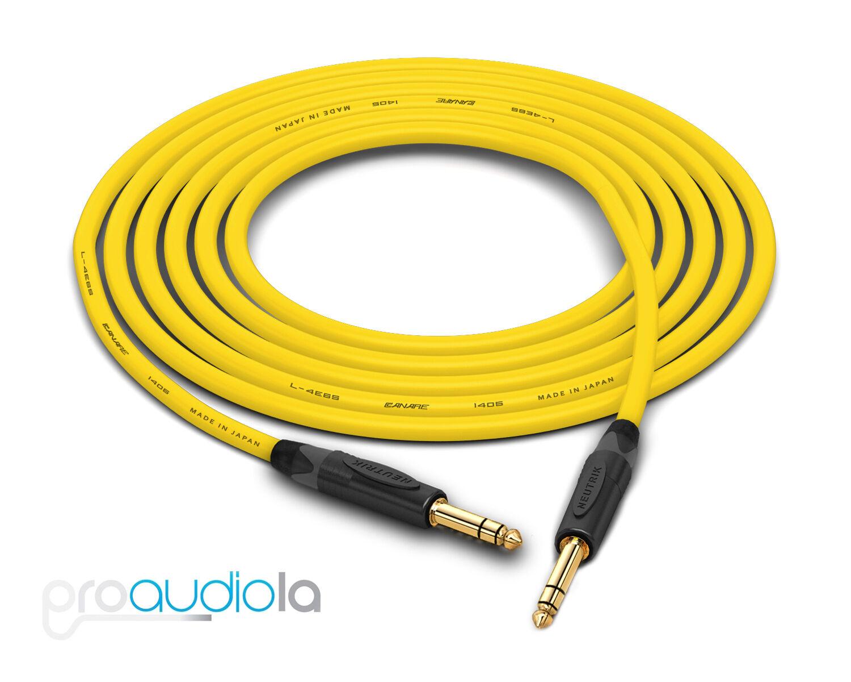Canare Quad L-4E6S Cable   Neutrik Gold 1 4  TRS   Gelb 300 Feet   300 Ft 300'