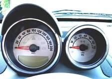 Smart Roadster/ 2 Stück Alu-Ringe für Tacho und Drehzahlmesser in poliert o. geb